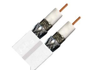 DIRECTV PVCX2W 500 Ft RG6 Dual Solid Copper Coaxial Cable - White