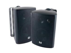 "Dual LU43PB 4"" Indoor/Outdoor 3-Way Dynamic Loudspeakers (Pair) - Black"