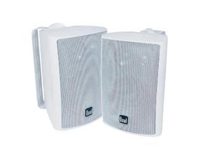 "Dual LU43PW 4"" Indoor/Outdoor 3-Way Dynamic Loudspeakers White Pair"