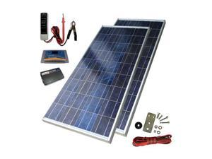 Sunforce 39626 160W Solar Back up Kit w/200W Inverter and 30A Dig Controller