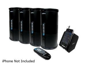 Audio Unlimited SPK-VELO-4KIT2 Premium 900MHz Wireless Indoor/Outdoor 4 Speakers System