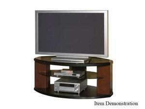 "BUSH FURNITURE VS97652-03 Up to 60"" Satin Black TV Stand"