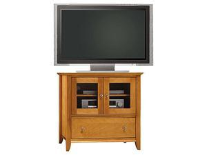 "BUSH FURNITURE VS05227-03 Up to 37"" Light Cherry Finished Veneer TV Stand"