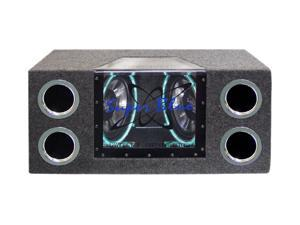 """Pyramid Dual 10"""" 1000W Bandpass Subwoofer w/Neon Accent Lighting"""