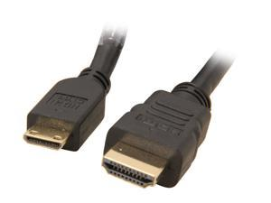 HDM-MINIBB-HSE15BK 15 ft. Black Mini HDMI Gold Plated Connector Cable with Ethernet & Ferrites