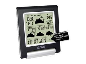 La Crosse Technology WD-3106UR-B Weather Direct 4 Day LITE Internet Powered Wireless  Forecaster Black/Silver