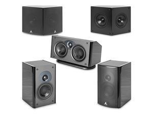 Atlantic Technology 1400CGLB Center Channel Speaker (Single, Gloss Black) Single
