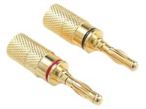 PRO-WIRE IW-4PLUG Gold-Plated Screw-On Banana Plugs, 4 pk