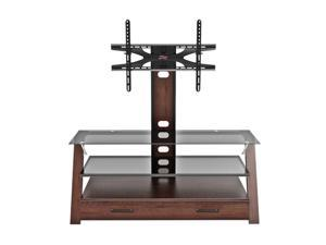 "Z-Line ZL0195-44M17U Up to 60"" Dark Cherry / Smoked Carlisle Flat Panel 3 in 1 Television Mount System"