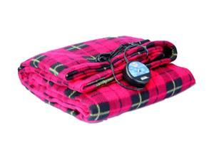 MAXSA 20014 Comfy Cruise Plaid 12 Volt Heated Travel Blanket