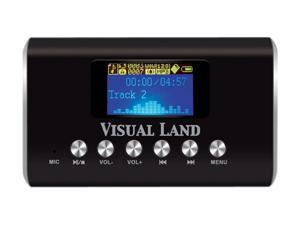 Visual Land ME-909-BLK Speaker / MP3 Player (Black)