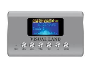 Visual Land ME-909-SIL Speaker / MP3 Player (Silver)