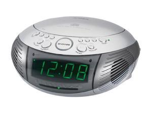 JENSEN  AM/FM Dual Alarm Clock Radio with Top Loading CD Player JCR-332