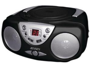 JENSEN Portable Stereo Compact Disc Player with AM/FM Radio CD-472-BK