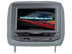 """Power Acoustik Universal Headrest 9"""" Monitor with DVD (Gray)"""