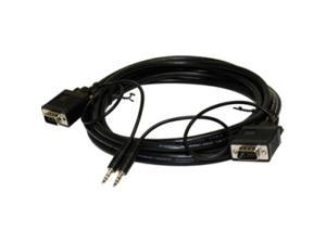 STEREN 253-206BK 6 ft. 15-pin HD-15 VGA Mini-phone Stereo Audio Cable
