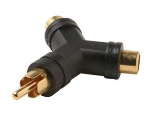 Steren 251-113-10 10ct RCA Plug to 2-RCA Jack Y Adapter