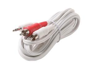 STEREN 252-062WH 12 ft. Audio Y-Cable M-M