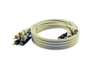 STEREN BL-216-512IV 12 ft. Premium Component Video Cable