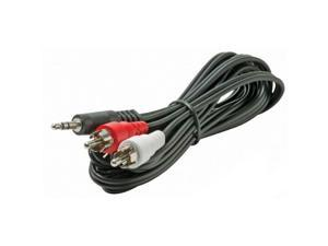 "STEREN BL-265-406BK 6 ft. Stereo ""Y"" Audio Cable Adapter"