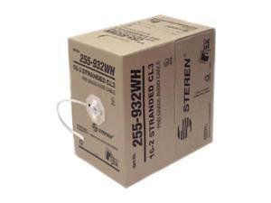 STEREN Model 255-932WH 500 ft 16AWG 2C Speaker Cable, White