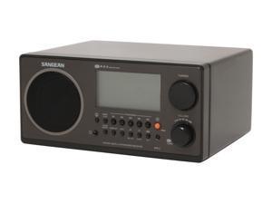 Sangean Digital AM/FM Wooden Cabinet Table-Top Radio WR-2 Black