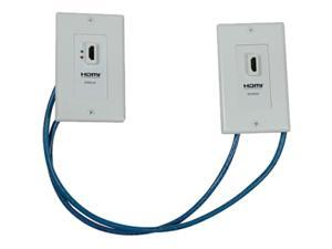 Tripp Lite P167-000 F-F HDMI Over Cat5 Active Extender Wall Plate Kit - White