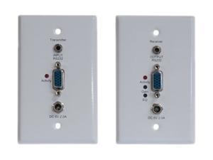 Tripp Lite VGA with RS232 Serial Over Cat5 (110 Type) Extender Wallplate Kit (Transmitter + Receiver) B130-101S-WP