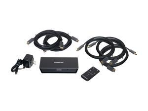 IOGEAR GHDSW4KIT 4-Port HD Audio/Video Switch with Remote and Cables