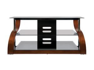 "Bell'O CW342 Up to 73"" Vibrant Espresso Curved Wood A/V Furniture"