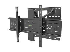 "Level MountDC65DMC 37""-85"" Full Motion TV Wall Mount LED & LCD HDTV Up to VESA 75, 100, 200,400, 600 and 800 max load 150lbs for Samsung, Vizio, Sony, Panasonic, LG, and Toshiba TV"