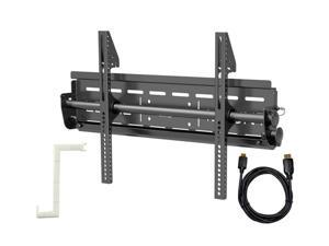 """Level Mount LM50HDCC Black 26"""" - 50"""" Large Tilt Mount with 10 Feet HDMI Cable"""