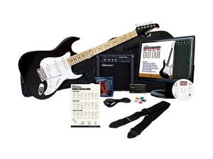 Silvertone SAK SS10 EPB Electric Guitar Package with Instructional Software, Black