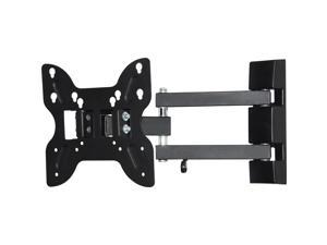 "Diamond Mounts BUC710S Black 14"" - 37"" Double Hinge Swivel Articulating Wall Mount"