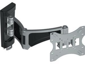 "Diamond Mounts WLB151 Black 14"" to 37"" Double Hinge Single Arm Swivel Articulating Wall Mount"