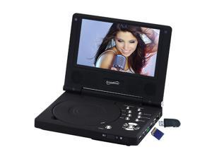 "SuperSonic SC-178DVD 7"" Portable DVD Player with Built-in USB and SD Card Slot"