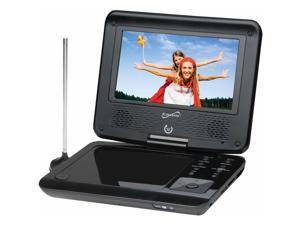 "SuperSonic SC-257 7"" Portable DVD Player With TV Tuner & USB & SD Card Slot"