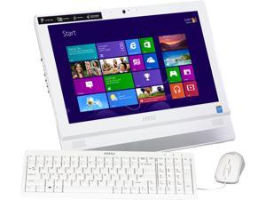 "MSI All-in-One PC Adora20 2BT-010US (9S6-AAA712-010) Celeron J1900 (2.00 GHz) 4 GB DDR3 500 GB HDD 19.5"" Windows 8.1 64-Bit"