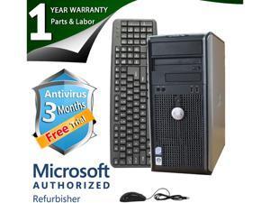 DELL Desktop Computer 755 Core 2 Quad Q6600 (2.40 GHz) 4 GB DDR2 320 GB HDD Windows 7 Professional 64-Bit