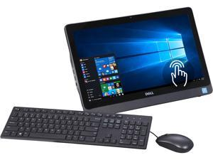 """DELL All-in-One Computer Inspiron 20 3000 i3052-3600BLK Pentium N3700 (1.60 GHz) 4 GB DDR3L 500 GB HDD 19.5"""" Touchscreen Windows 10 Home 64-Bit"""
