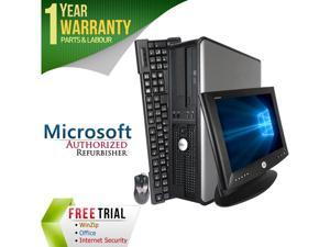 "DELL Desktop Computer OptiPlex GX780 + 17"" LCD Core 2 Duo E8400 (3.00 GHz) 4 GB DDR3 1 TB HDD Intel HD Graphics Windows 10 Pro"