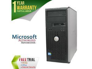 DELL Desktop Computer GX780-Tower Core 2 Quad Q6600 (2.40 GHz) 8 GB DDR3 320 GB HDD Intel GMA 4500 Windows 10 Pro