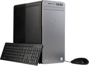 Dell XPS Desktop with Intel Quad Core i7-7700 / 16GB / 2TB HDD & 256GB SSD / Win 10 Pro / 8GB Video (Black)