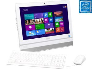 "MSI All-in-One PC Adora20 2BT-010US 9S6-AAA712-010 Celeron J1900 (2.00 GHz) 4 GB DDR3 500 GB HDD 19.5"" Windows 8.1 with Bing"