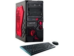 CybertronPC Desktop PC Q-860X (Red) Athlon II X4 860K (3.70 GHz) 8 GB DDR3 1 TB HDD AMD Radeon R7 360 Windows 10 64-Bit