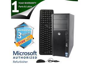 Refurbished: HP Desktop Computer Z210 XEON E3-1240 (3.30 GHz) 8 GB DDR3 2 TB HDD Windows 7 ...