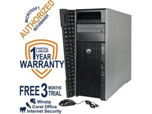 HP Desktop Computer Z620 WS Intel Xeon E5-2609 (2.4 GHz) 8 GB DDR3 1 TB HDD NVIDIA NVS 310 Windows 7 Professional 64-Bit