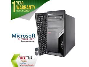 Refurbished Lenovo M57P Tower Intel Core 2 Duo E6550 2.33G / 4G DDR2 / 250G / DVD / Windows 7 Professional 64 Bit / 1 Year Warranty