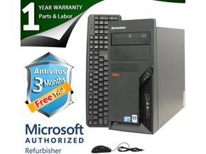 Lenovo Desktop Computer M58P Core 2 Duo E8400 (3.00 GHz) 4 GB DDR3 160 GB HDD Intel GMA 4500 Windows 7 Professional 64-Bit