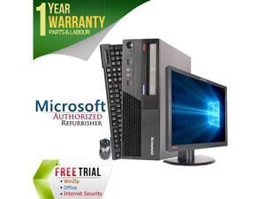 "Lenovo Desktop Computer M58P + 22"" LCD Core 2 Duo E8400 (3.00 GHz) 4 GB DDR3 1 TB HDD Intel GMA 4500 Windows 7 Professional 64-Bit"